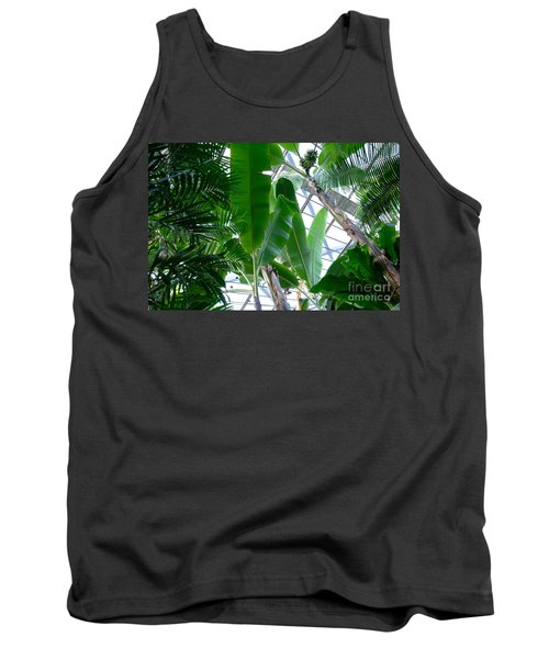 Banana Leaves In The Greenhouse Tank Top