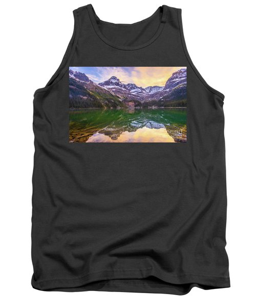 Banff Lake Ohara Sunrise Reflection Tank Top