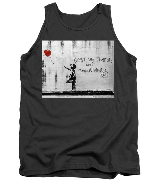 Banksy Balloon Girl Fight The Fighters Tank Top