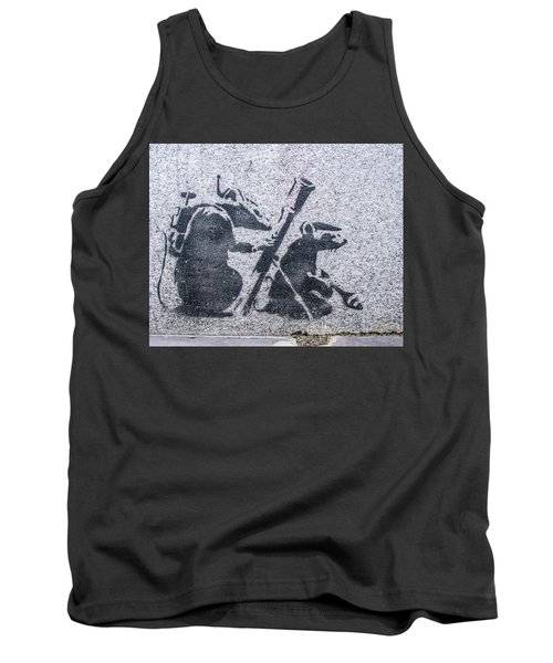Banksy Bazooka Rats Tank Top