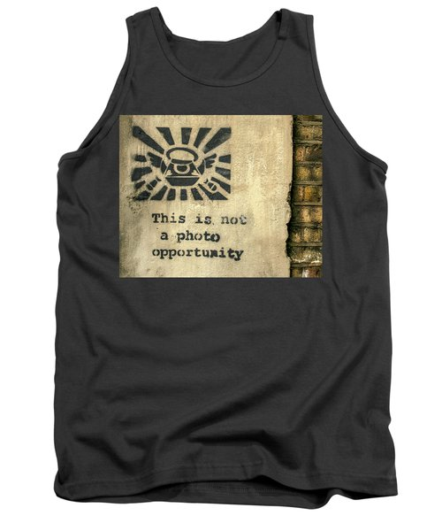 Banksy's This Is Not A Photo Opportunity Tank Top
