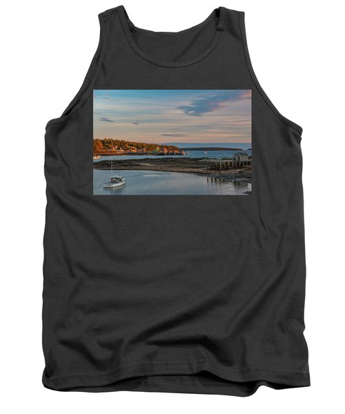 Bass Harbor Sunset Tank Top