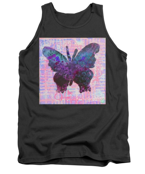Be Happy Butterfly Tank Top
