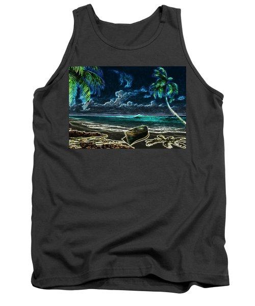Beach At Night Tank Top
