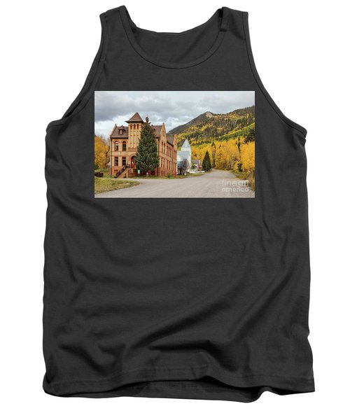 Tank Top featuring the photograph Beautiful Small Town Rico Colorado by James BO Insogna