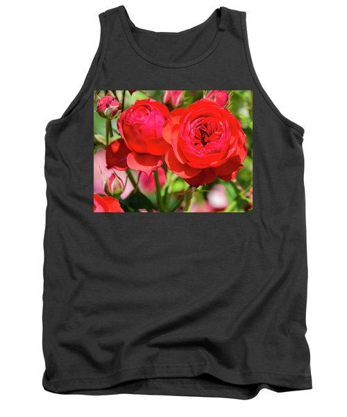 Best Buds In Red Tank Top