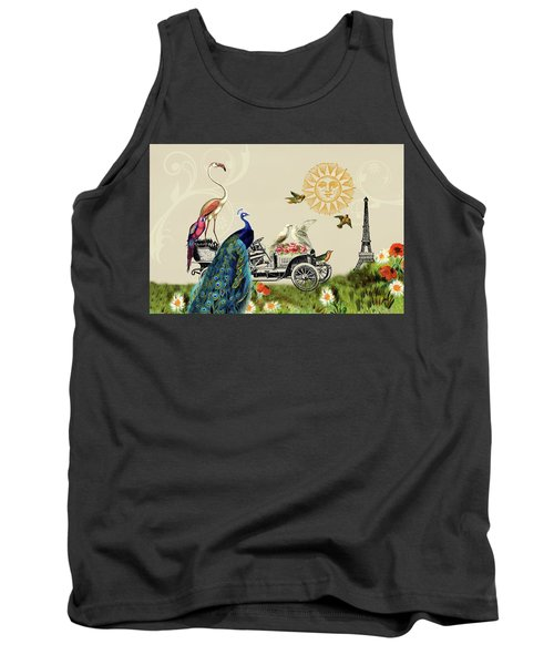 Birds Of A Feather In Paris, France Tank Top