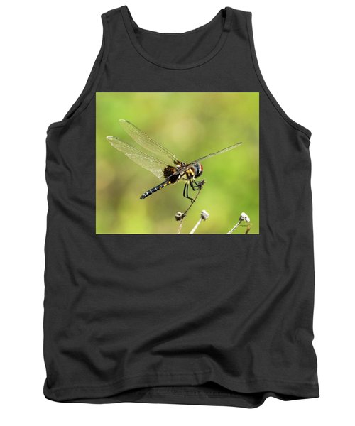 Black Saddlebags Dragonfly Tank Top