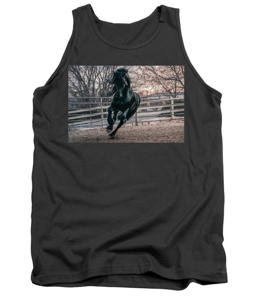 Black Stallion Cantering Tank Top