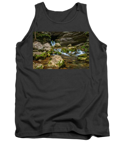 Tank Top featuring the photograph Blanchard Springs Headwater by Andy Crawford