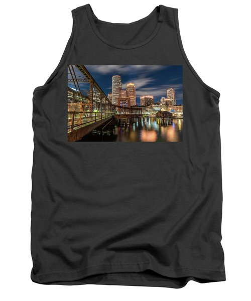 Blue Hour In Boston Harbor Tank Top