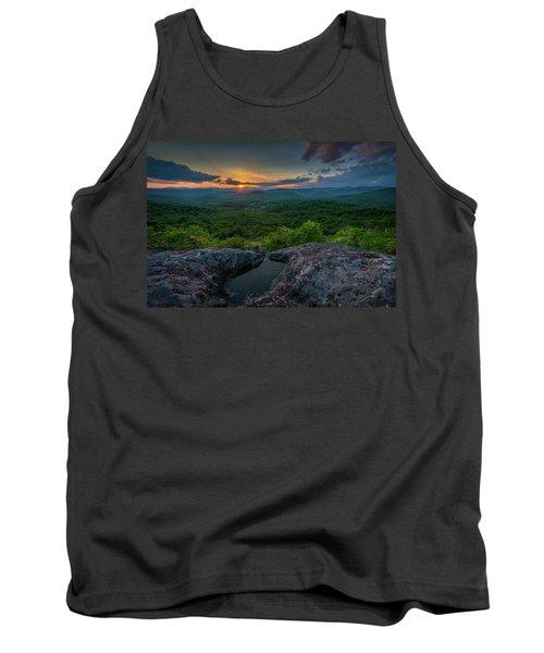 Blue Ridge Mountain Sunset Tank Top