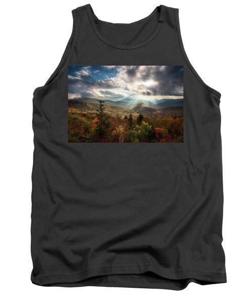 Blue Ridge Mountains Asheville Nc Scenic Autumn Landscape Photography Tank Top