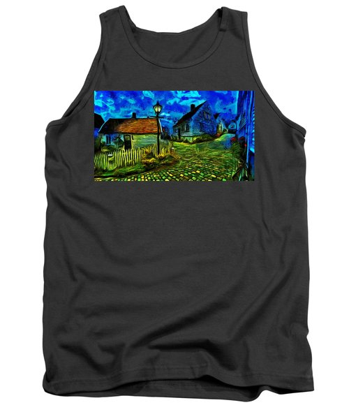 Tank Top featuring the painting Blue Town by Harry Warrick