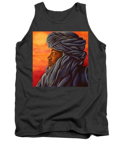 Blue Tuareg Tank Top