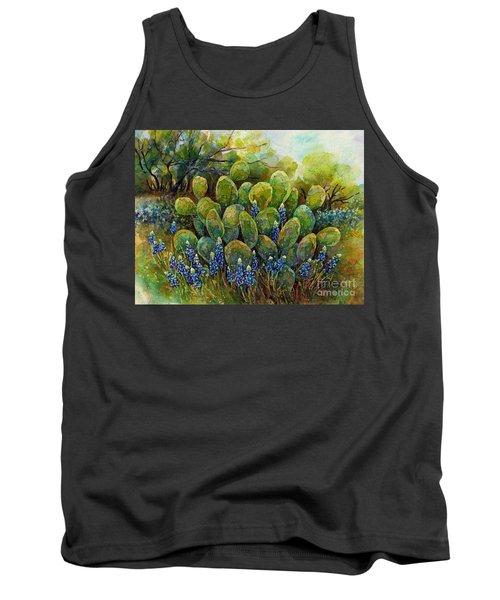 Bluebonnets And Cactus 2 Tank Top