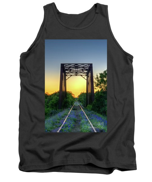 Bluebonnets On The Abandoned Railroad Tank Top