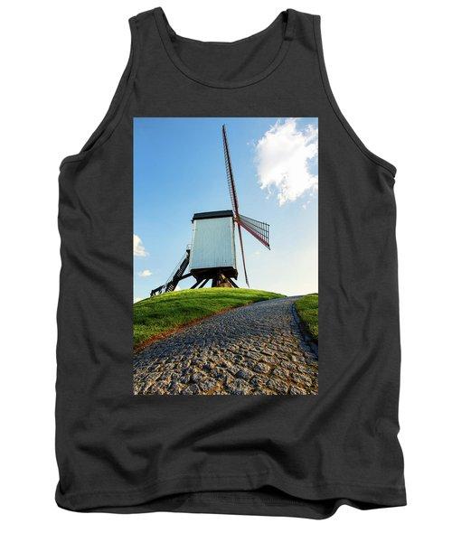 Bonne Chiere Windmill Bruges Belgium Tank Top