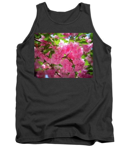 Bright Pink Blossoms Tank Top