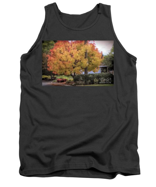 Brilliant Fall Color Tree Yellows Oranges Seasons  Tank Top