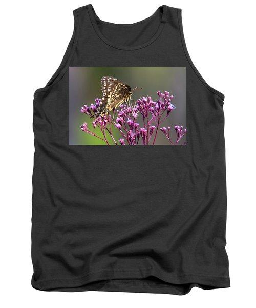 Butterfly On Wild Flowers Tank Top