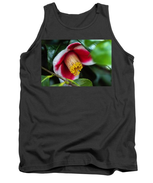 Camellia Bloom And Leaves Tank Top