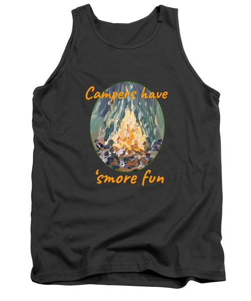 Tank Top featuring the painting Campers Have Smore Fun by Maria Langgle