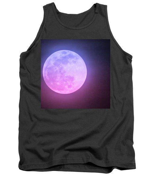 Cancer Super Wolf Blood Moon Near Eclipse Tank Top