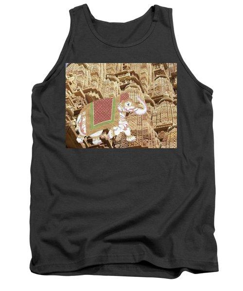 Caparisoned Elephants  Tank Top