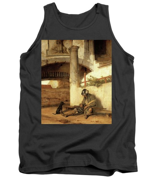 Carel Fabritius The Gate Guard/the Sentry, 1654. Painting. Oil On Canvas. Tank Top