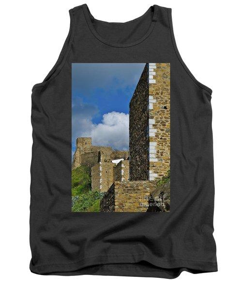 Castle Wall In Alentejo Portugal Tank Top