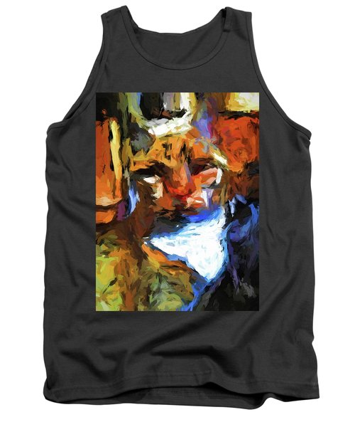 Cat Behind Cat In The Kitchen Tank Top