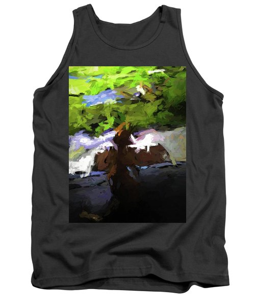 Cat On The Porch Tank Top