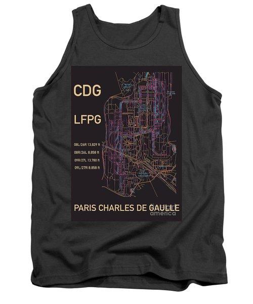 Cdg Paris Airport Tank Top