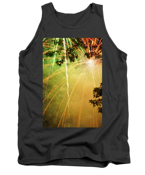 Yellow Fireworks Tank Top
