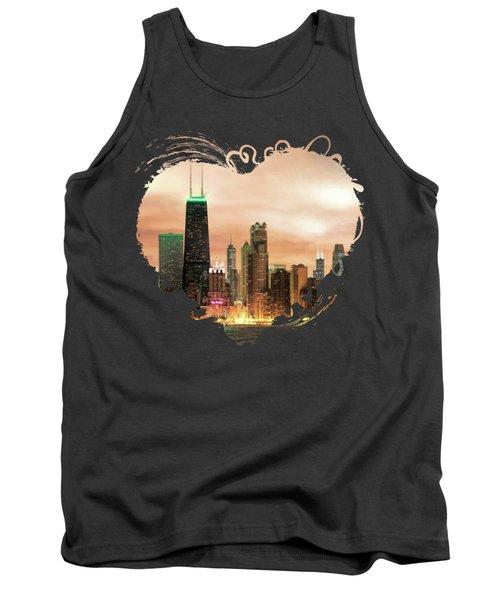 Chicago Gotham City Skyline Panorama Tank Top