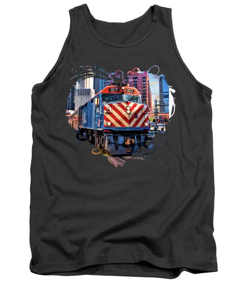 Chicago Metra Train Downtown Tank Top
