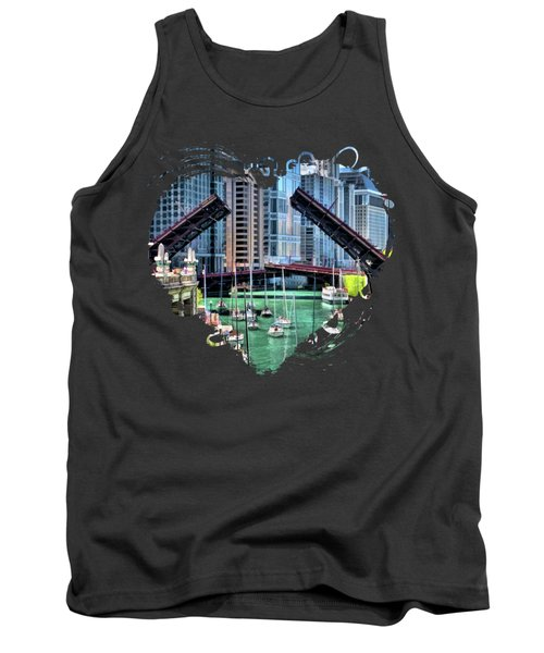 Chicago River Boat Migration Tank Top