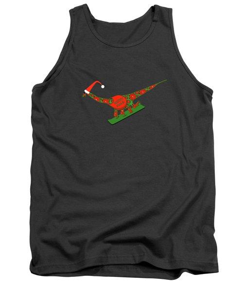 Christmas Dinosaur Snowboarding Tank Top