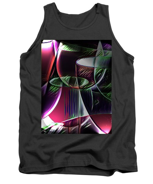 Claret Abstract Tank Top