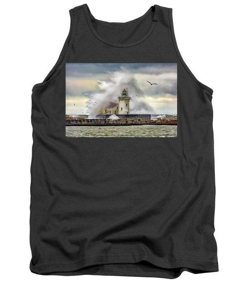 Cleveland Lighthouse Storm  Tank Top
