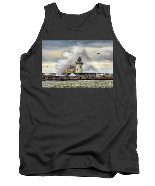 Cleveland Lighthouse Storm  Tank Top