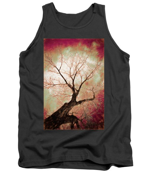 Tank Top featuring the photograph Climbing Red Fiery by James BO Insogna