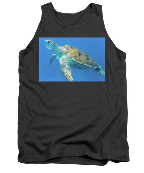 Close Up Sea Turtle Tank Top