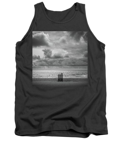 Cloudy Morning Rough Waves Tank Top