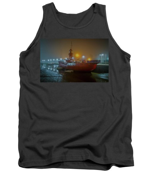 Tank Top featuring the photograph Colne Lightship In The Fog by Gary Eason