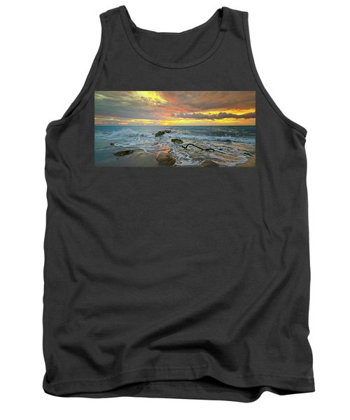 Colorful Morning Sky And Sea Tank Top