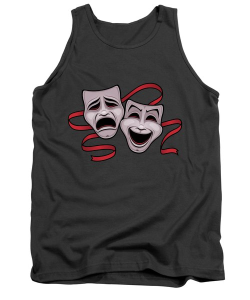 Comedy And Tragedy Theater Masks Tank Top