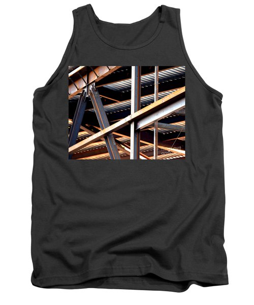 Construction Abstract Fragments Tank Top