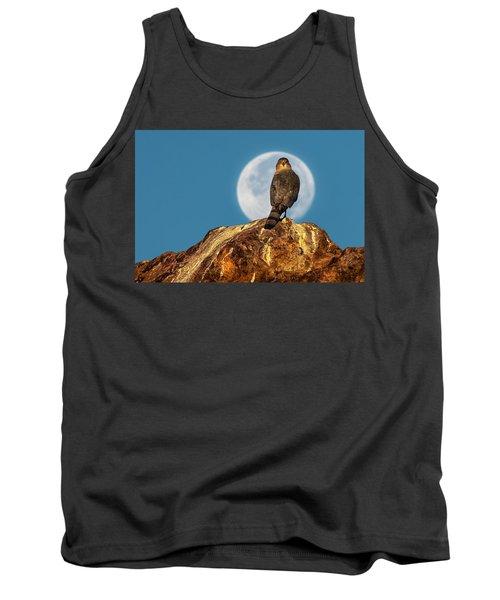 Coopers Hawk With Moon Tank Top